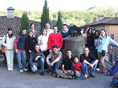 Group photo of Bellringers from Bergamo