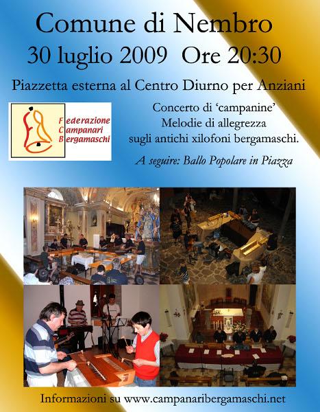 Concerto di campanine, campane a Nembro