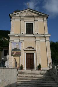 Facciata della chiesa che ospita le campane Prùneri del 1907
