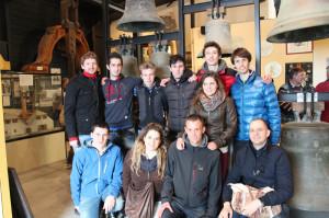 La Scuola Campanaria  di Roncobello durante la visita al Museo Paccard