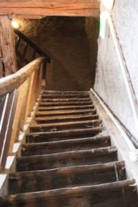 Scala per la salita alla cella campanaria della chiesa di Faverges