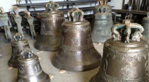 Le campane in lavorazione