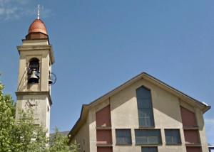La chiesa e il campanile di Verghera di Samarate (Varese). Fonte: Googlemaps